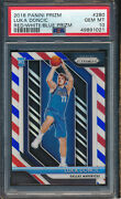 2018 Panini Prizm Red White And Blue 280 Luka Doncic Rc Psa 10