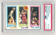 1980 Topps Basketball Larry Bird Magic Johnson Rookie Card Rc Graded Psa 4 Dr J