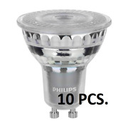 Philips Master 4.9w Gu10 Led 60° Dimmable Lamp 2700k 355lm 10pcs