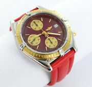 Breitling Chronomat Red Automatic Menand039s Watch Steel/gold Ref. D13050 Papiere