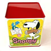 1966 Mattel Snoopy In The Music Box Tin Prototype / Sales Sample One Of A Kind
