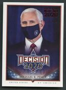 2020 Decision Election Day Parallel Red Foil Mike Pence 1/1 Rare Mask Version