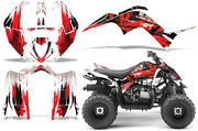 Atv Graphics Kit Sticker Decal For Yamaha Raptor 90 16-20 Carbon-x Red