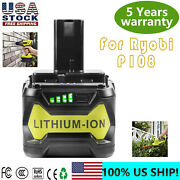 For Ryobi P108 18v One+ Plus High Capacity Battery 18 Volt Lithium-ion New 5.0ah