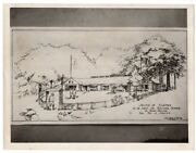 Wwi Sketch Of Army Navy Canteen On Boston Commons Original News Photo