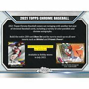 2021 Topps Chrome Baseball Unopened Hobby 12 Box Case - Presell 8/11/21 Trout
