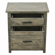 Ashford 25 Reclaimed Wood Filing Cabinet With Two Drawers