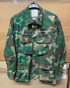 Genuine Us Army Special Forces Rdf Shirt Coat Erdl Patched Ex Cond Medium Reg