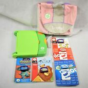 Leapfrog Leap Pad Learning System W/5 Cassettes And Books In Carrying Case Used
