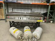 Belson Commercial Gas Grill 24x60 With 3 Tanks