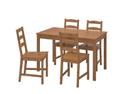 Jokkmokk Table And 4 Chairs, Antique Stain New