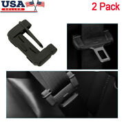 2 Black Car Seat Belt Buckle Clip Silicone Anti-scratch Cover Safety Accessories