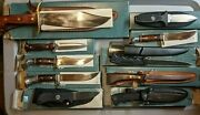 Vintage Western Cutlery American Made Knives - Bowie Hunting Boot Fillet