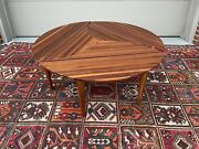 A Modern Design Tropical Hardwood 3pc Puzzle Table By David Levy Of California
