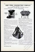 1930 Erie Steel Construction Clamshell Bucket Photo Vintage Trade Print Ad