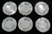 1804 London Sterling Silver 6 Georgian Iii Bread And Butter Dishes