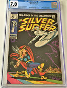 Silver Surfer 4 02/69 Cgc 7.0 Ow/w Pgs Classic Battle Silver Surfer Vs Thor
