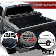 Sale For 2015-2020 Ford F150 8 Ft Long Bed Tri-fold Hard Tonneau Cover+tool Bag