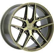 4 Staggered 20x10 / 20x11 Xo Cairo Bronze 5x4.5 +28/+20 Wheels Rims