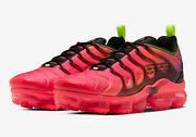 New Menand039s Nike Air Vapormax Plus Laser Crimson Red Pink Black Multi Size Rare Ds