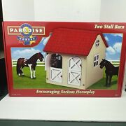 Paradise Horses Two Stall Barn Stable Farm Encouraging Serious Horseplay