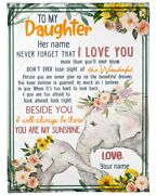 To My Daughter Everyday That You Are Not With Me Fleece Blanket Birthday Gift