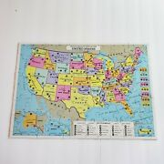 Milton Bradley Puzzle Map Of The United States/world 84 Pieces 2 Sided 1993