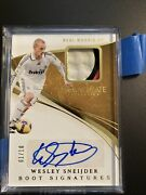 2020 Immaculate Wesley Sneijder Boot Signatures 1/10auto Patch Rare