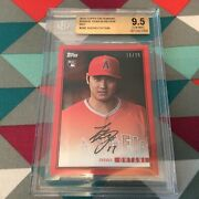 Shohei Ohtani Angels 16/25 Made Red Rc Bgs Gem Mint 9.5 Year N Review 2018 Topps