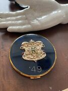 Antique Mardi Gras Favor Krewe Of Hermes 1949 Faux Jeweled Compact