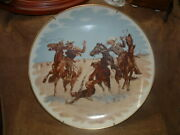 Frederic Remington Gorham China Collector Wall Plate Aiding A Comrade Painting