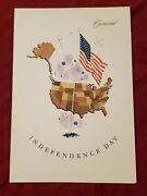Rare Cunard Lines Rms Queen Mary July 4 1960 Independence Day Menu