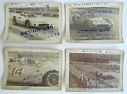 Racing Cars Lot Of 4 Small Antique Real Photos Automobiles