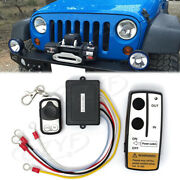 Wireless Rc Kit Set Winch 50ft 15m For Truck Jeep Atv Warn Ramsey Remote-control
