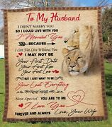 Personalized To My Husband I Love You Your Wife Blanket Gifts For Husband