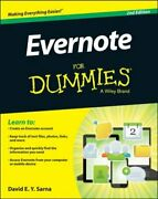 Evernote For Dummies By David E Y Sarna New