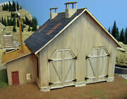 Two Stall Engine House W/ Shop On30 Model Railroad Structure Unpainted Kit Br406