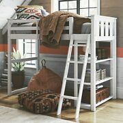 White Better Homes And Gardens Kane Twin Loft Bed Kids Teens Bedroom Furniture