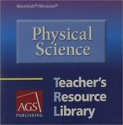 Physical Science Teacherand039s Resource Library Pc Mac Cd Electronic Tests Text Ags