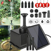 Solar Powered Fountain Submersible Water Pump With Filter Panel Pond Pool Decor