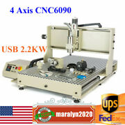 Usb 4 Axis 1.5kw Cnc6090 Router Engraver 3d Metal Steel Milling Cutting Machine