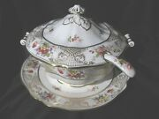 Hammersley - Lady Eileen - Covered Soup Tureen With Laddle And Stand