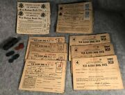 Ww2 Wwii World War 2 Era Ration Booklets Opa Tokens Blue And Red