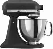 Kitchenaid Ksm150psbk 5-qt. Stand Mixer With Pouring Shield - Imperial Black