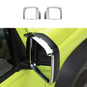 For Suzuki Jimny Lhd 2019-2021 Abs Chrome Rear View Side Door Mirror Frame Cover