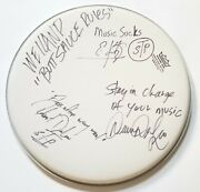 Stone Temple Pilots Real Early Hand Signed 14 Drumhead W/ins Jsa Loa Weiland