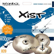 Istanbul Xist Brilliant Cymbal Set With Free 18 Inch Crash And Cymbal Bag New