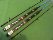 Lot Of 2 Penn Wrath 7' 0 Medium Light Moderate Fast Action Spinning Rods New.