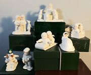 Snowbabies Department 56 Figurines Collection Assortment Of 7 1988 Taiwan Xmas