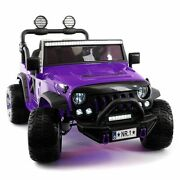 2021 Explorer Truck Ride On Toy Car With Parental Remote And Mp3 Player Purple